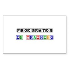 Procurator In Training Rectangle Sticker