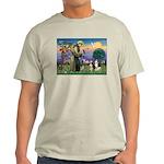 St Francis & 2 Tri Aussies Ash Grey T-Shirt
