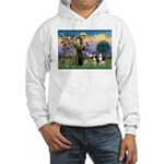St Francis & 2 Tri Aussies Hooded Sweatshirt