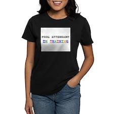 Pool Attendant In Training Women's Dark T-Shirt