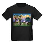 St Francis & Aussie Kids Dark T-Shirt