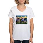 St Francis & Aussie Women's V-Neck T-Shirt