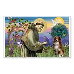St Francis/ Aus Shep Rectangle Sticker