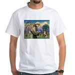 St Francis/ Aus Shep White T-Shirt