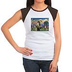 St Francis/ Aus Shep Women's Cap Sleeve T-Shirt