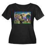 St Francis/ Aus Shep Women's Plus Size Scoop Neck