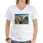 St Francis/ Aus Shep Women's V-Neck T-Shirt