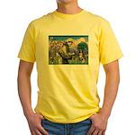St Francis/ Aus Shep Yellow T-Shirt
