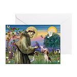 St. Francis & Beagle Greeting Cards (Pk of 20)
