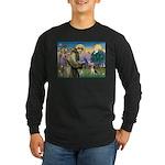 St. Francis & Beagle Long Sleeve Dark T-Shirt