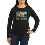 St. Francis & Beagle Women's Long Sleeve Dark T-Sh