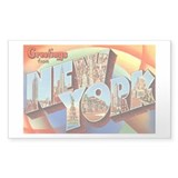 New York NY Rectangle Sticker 50 pk)