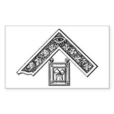 Past Master's Jewel Rectangle Decal