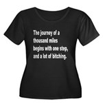 Beginning a Journey (Front) Women's Plus Size Scoo