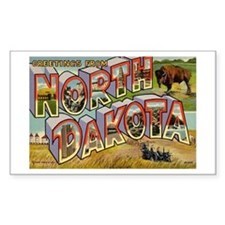 North Dakota ND Rectangle Decal