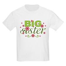 Big Sister Garden Flowers T-Shirt