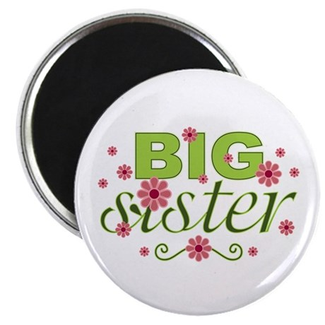 "Big Sister Garden Flowers 2.25"" Magnet (10 pack)"