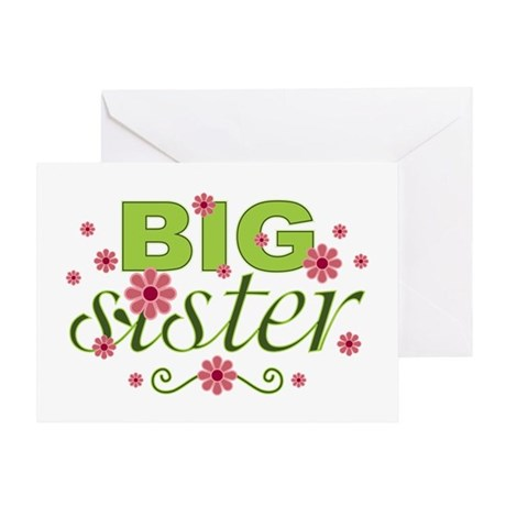 Big Sister Garden Flowers Greeting Card