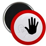 "Do Not Enter - Hand - 2.25"" Magnet (10 pack)"