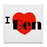 I Love Ben Tile Coaster