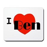 I Love Ben Mousepad