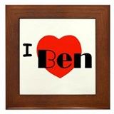 I Love Ben Framed Tile