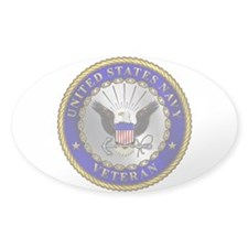 US Navy Veteran Oval Decal