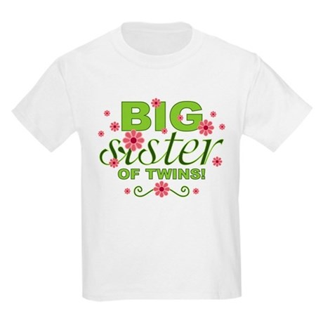 Big Sister of Twins Kids Light T-Shirt
