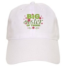 Big Sister of Twins Baseball Cap