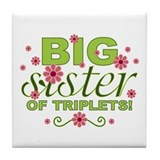 Big Sister of Triplets Tile Coaster