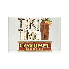 Cozumel Tiki Time - Rectangle Magnet