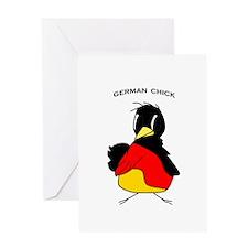 German Chick Greeting Card