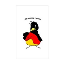 German Chick Rectangle Decal