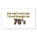 you can't scare me..70's Sticker (Rectangle 10 pk)