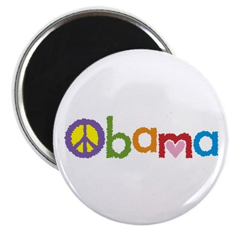 Peace, Love, Obama Magnet