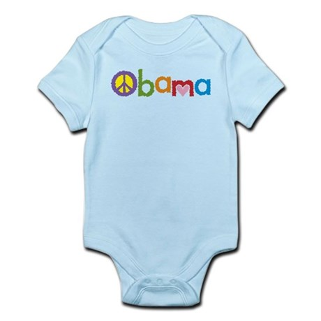 Peace, Love, Obama Infant Bodysuit