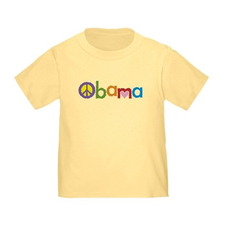 Peace, Love, Obama Toddler T-Shirt