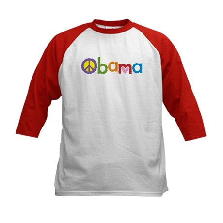 Peace, Love, Obama Kids Baseball Jersey