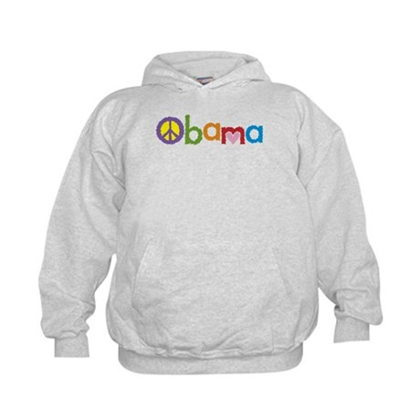 Peace, Love, Obama Kids Hoodie
