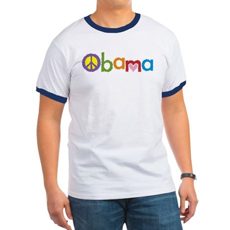 Peace, Love, Obama Ringer T