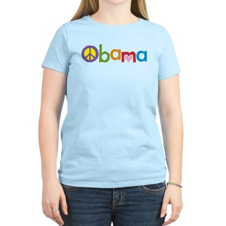 Peace, Love, Obama Women's Light T-Shirt
