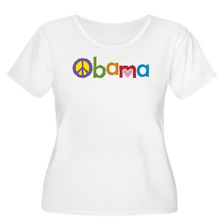 Peace, Love, Obama Women's Plus Size Scoop Neck T-