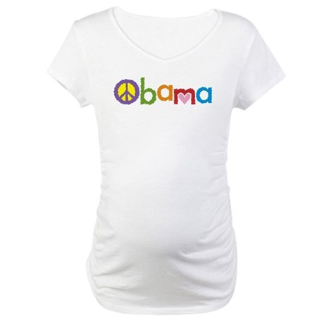 Peace, Love, Obama Maternity T-Shirt