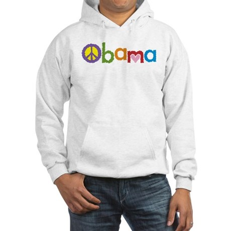 Peace, Love, Obama Hooded Sweatshirt