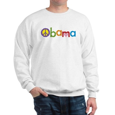 Peace, Love, Obama Sweatshirt