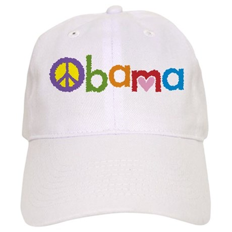 Peace, Love, Obama Cap