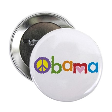 "Peace, Love, Obama 2.25"" Button (100 pack)"