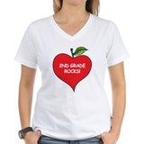 Heart Apple 2nd Grade Rocks Shirt
