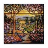 Tiffany Landscape Tile Coaster