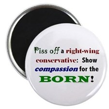 "Compassion for the Born! 2.25"" Magnet (10 pack)"